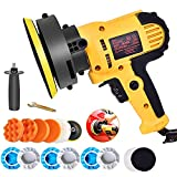 Buffer Polisher, 700W 5' Variable Speed Polisher Kit with 500-3500rpm/min Detachable Handle Rotary Car Buffer Polisher Waxer, for Boat, Car Polishing and Home Appliance