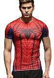 Cody Lundin T-Shirt Spider Hero da Uomo Camicia a Compressione da Uomo Sports Fitness Manica Corta Collant T-Shirt da Uomo (Style, S)