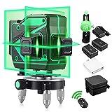 Livello laser professionale 360 autolivellante Livelli laser verdi 3D Laser a raggio a 12...