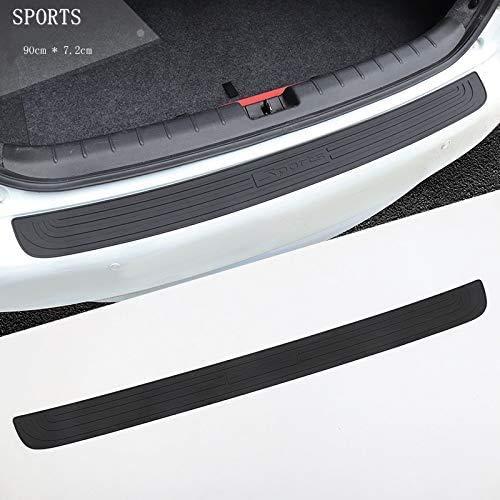 NBHUYT kofferbak, schokbestendige beschermhoes, suV-bescherming, rubber, auto-sill plaat, schokwerend, rubberen beschermhoes, voor auto, styling accessoires, kleur: zwart zwart