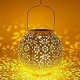 VIY Farol Solar Solar Lantern Outdoor LED Luz Colgante Lámpara de Metal de Luces de Jardín Lámpara