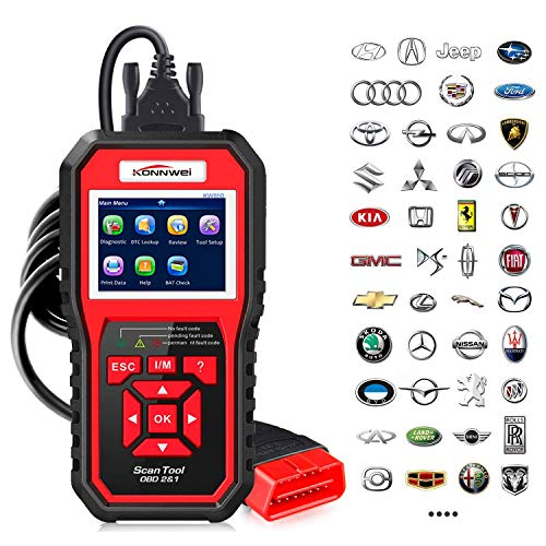 OBD2 Scanner KONNWEI Code Reader OBD II Auto Diagnostic Code Scanner OBD EOBD Car Engine Fault CAN Diagnostic Scan Tool with I/M Readiness (Upgraded Version)