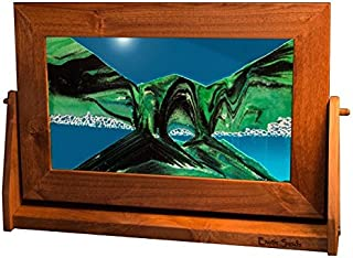 Exotic Sands - - Lg12 Large Alder Frame (Summer Turquoise) USA Variety of Colored Sands Idea. Liquid, Water, Sand, Air Oil.