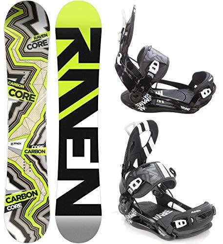 Raven Snowboard Set: Snowboard Core Carbon 2020 + Bindung Fastec FT500 (157cm + FT500 Black L)