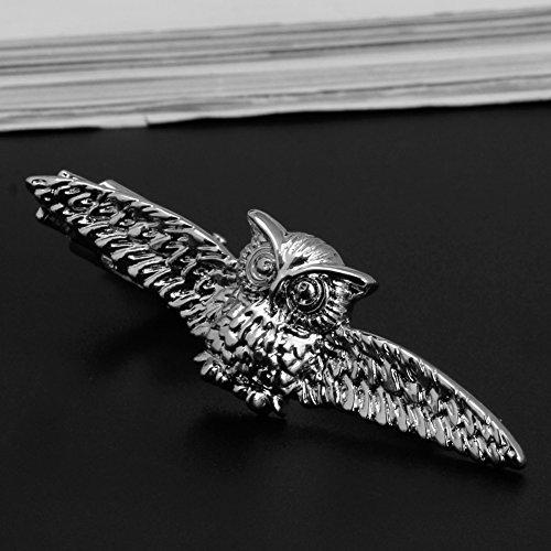 QIANGU Clip de corbata, De los hombres Vintage Tie Clip de la corbata de la barra de cierre de plumas búho dardo coche gancho de uñas clip de corbata
