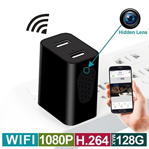 Hidden Camera, Spy Camera, 1080P HD Side View Hidden Camera Charger WiFi Camera with Remote Viewing & Motion Detection, Hidden Nanny Cam/Security Camera Perfect for Indoor Power Strip, No Audio
