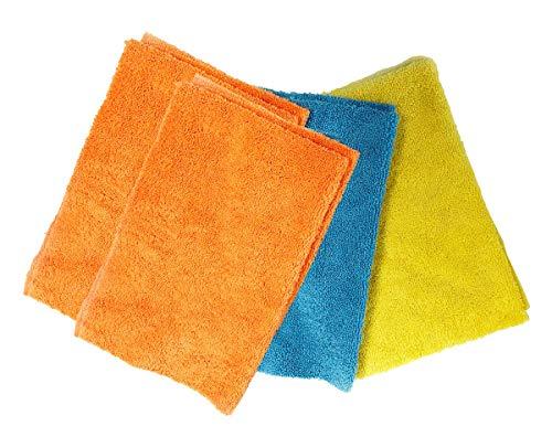 Micro Detailer Ceramic Coating Wipe Down Microfiber Towels (4-Pack, Assorted Colors)