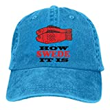Photo de SunHinanime How Swede It is Casquetteclassic Unisex Baseball Cap Adjustable Washed Dyed Cotton Ball Hat Blue One Size par
