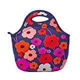 BUILT Gourmet To Go Soft Neoprene Lunch Tote Bag - Lightweight, Insulated and Reusable Lush Flower 5159629