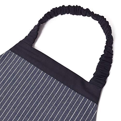 エプロン130-160三角巾付きピンストライプ・インディゴN1230630