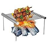 YWTT Parrilla Plegable portátil BBQ Parrilla de carbón de Acero Inoxidable Parrilla de Campamento Estufa de Campamento Parrilla de carbón Parrilla de fogata para cocinar al Aire Libre Barbacoa Ca