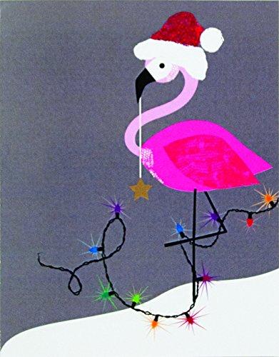 The Gift Wrap Company Boxed Holiday Christmas Cards, 3.75 x 4.75-Inches, Santamingo