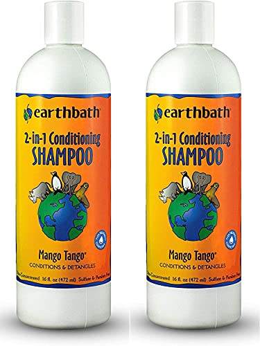 Earthbath 2-in-1 Conditioning Shampoo for Pets,...