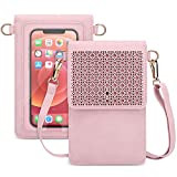 AnsTOP Touch Screen Purse, Women Crossbody Cell Phone Bag Mini Shoulder Purse with Adjustable Straps (Pink)