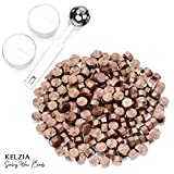 230 Stück Siegelwachs achteckig mit 2 Teelichtern + 1 Schmelzlöffel. Wachs-Siegelwachs (Bronze)