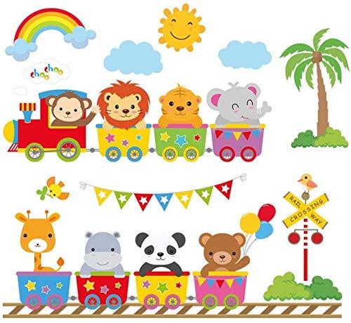 FFVVE Calcomanías de pared con diseño de elefante de león, diseño de mono y león, decoración de pared para habitación de bebé
