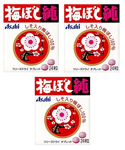 【まとめ買い】アサヒグループ食品 梅ぼし純 24粒×3個