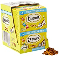 A different flavour every day: with the Dreamies Selection Box, every cat's dream becomes a reality - the crunchy classic chicken, cheese, beef and salmon in a multi-pack When the bag rustles, the velvet paws come directly tarnished - knowing that th...