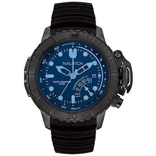 Nautica Herren Analog Quarz Uhr mit Silikon Armband 6.56086E+11