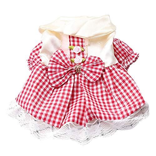 DONGKER Vestido de perro para mascotas, tutú para perro, vestido de princesa con lazo, bonito vestido dulce para perros pequeños