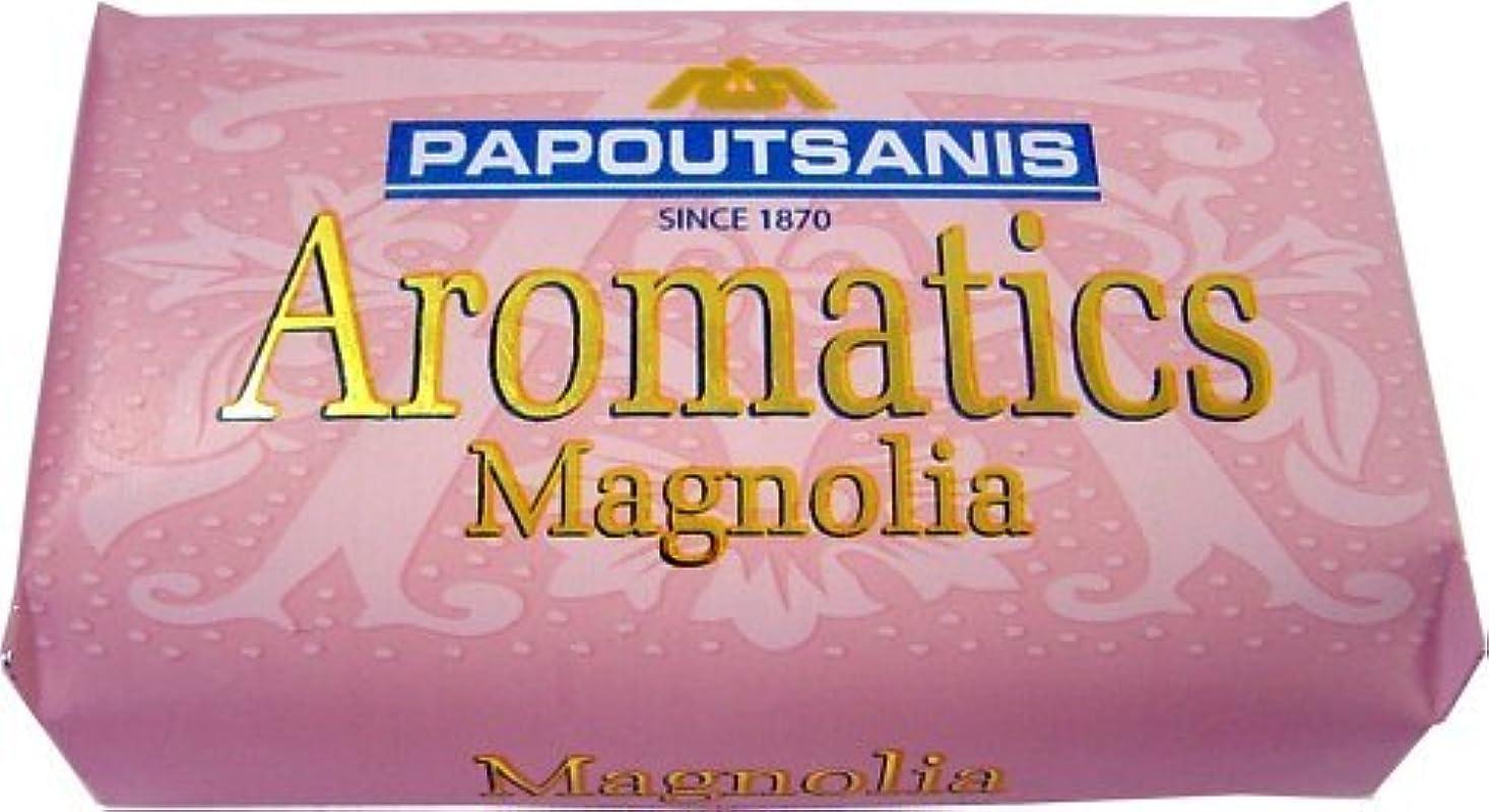 中性混乱した熟達Papoutsanis 4パック - ギリシャソープ - アロマ - マグノリア