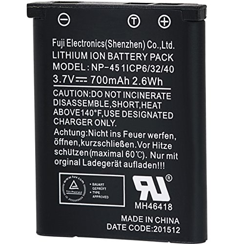 Praktica NP-45 Lithium-Ionen Akku für WP240, Z250 und Z212 Luxmedia Kameras