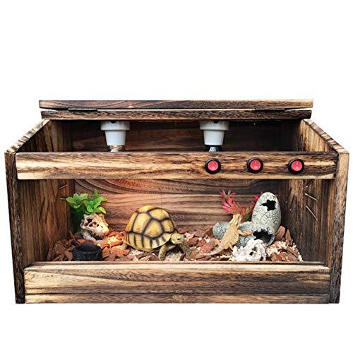 HAI RONG Vivarium de Mascotas Caja de Reptil Caja de Mascotas para Tortuga crestada Gecko araña Lagarto Rana camaleón casa Caja de cría de decoración de casa casera (Color : 60 * 40CM)