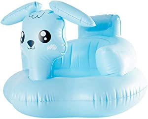 aheadad Baby Inflatable Seat Cartoon Sheep Booster Safety Chair Learn Sit Sofa With Backrest  amp  Built-in Air Pump Learning Chair Stool for Toddlers Kids-Pink Blue