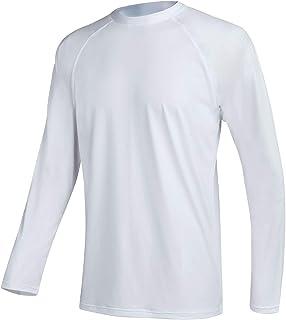 QPNGRP Mens UPF 50+ UV Sun Protection Long Sleeve Rash Guard Swim Shirt