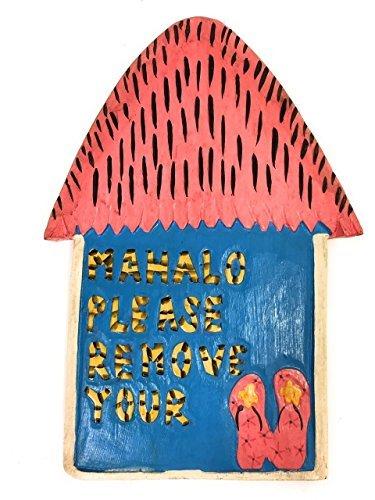 Norma Lily Pink entfernen Sie Bitte Ihre Hausschuhe Hütte Schild 30,5cm–Hawaii Geschenke