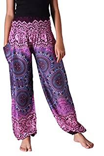 B Bangkok Pants Women S Boho Pants Hippie Clothing Yoga Outfits Bohemian Wear Peacock Design Bohorose Pink One Size B0774gymzv Amazon Price Tracker Tracking Amazon Price History Charts Amazon Price Watches
