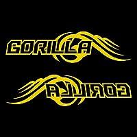 GORILLA ゴリラ カッティング ステッカー 左右セット イエロー 黄