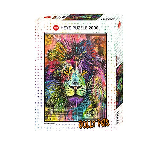 Heye HY29894 Lion´s Heart, Dean Russo Puzzle, White