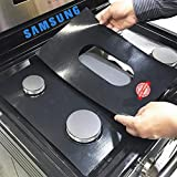 Samsung Stove Protector Liners - Stove Top Protector for Samsung Gas ranges - Customized - Easy Cleaning Stove Liners NX58K9500WS