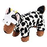 BESTOYARD - Disfraz de vaca para perro, diseño de vacas con capucha, suave y cómodo para perros pequeños (XS)
