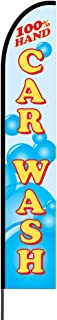 The Curbie Hand Car Wash Feather Banner Swooper Flag Pole Kit Outdoor Business and Store Sign, 15ft (FY-Q6ZJ-R5AZ)
