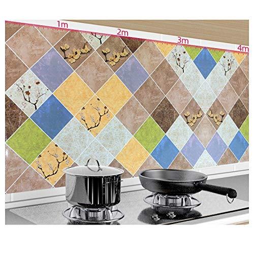 Küchenölbeständiger Aufkleber, feuerfeste und wasserdichte selbstklebende Tapete für Dunstabzugshauben, Hochtemperatur-Gasherd für den Hausgebrauch-E.