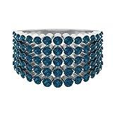 Rosec Jewels 14 quilates oro amarillo redonda Blue Topacio azul - Londres