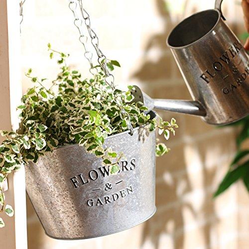 不二貿易鉢カバーSサイズ直径17cmシルバー吊下げ式スチール24080