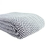 Melange Home Everyday Blanket Collect Yarn Dyed Cotton Blanket Grey Twin - Twin XL
