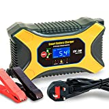 JIAOO Car Battery Charger Lntelligent 6A 12V 3A 24V Battery Charger for Charging
