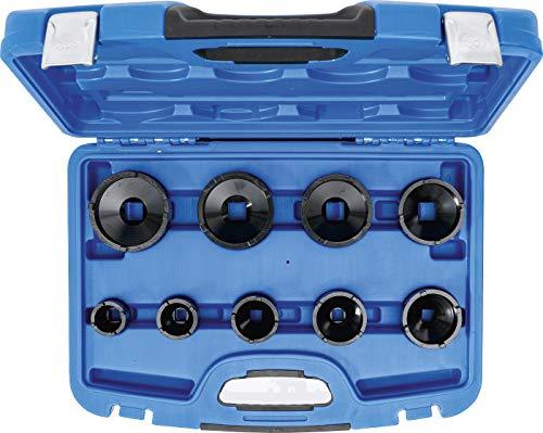 BGS 8337 | BGS 8337 | Nutmutternschlüssel-Satz | 9-tlg. | Zapfen außen liegend | KM4 - 5 - 6 - 7 - 8 - 9 10 - 11 - 12