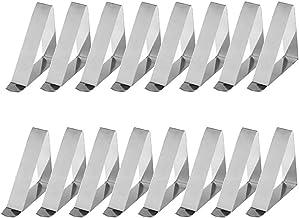 VORCOOL 12PCS Acier inoxydable Triangle Nappe Clips R/églable Table Tissu Triangle Pinces 4.5 cm