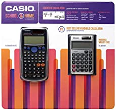 Casio School and Home Calculator Combo Pack Includes FX-300ESPLUS Scientific Calculator and SL-300SV Solar Powered Standard Function Calculator