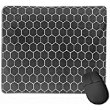 Gaming Mouse Pad, Mouse Mat Grid Soccer Football Net in Black Closeup Abstract Competition Equipment Nudo del Juego