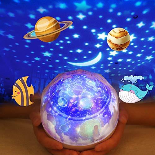 N/ A LED Night Light Moon Lamp Ciel étoilé Magic Star Universe Planet Projector Lamp Cosmos