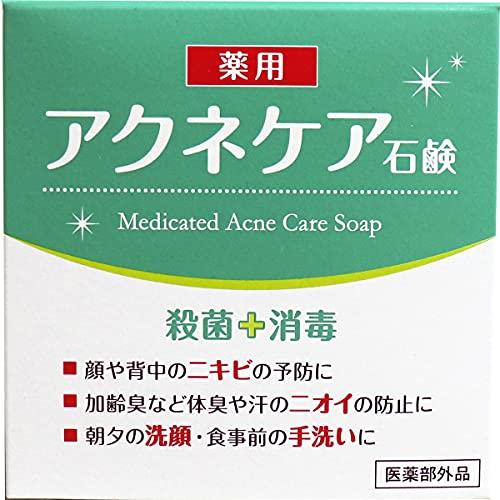 Jabón medicinal japonés para el cuidado del acné, 80 g para lavado diario, esterilización y desinfección, cosmético japonés para una piel sana e hidratada, fabricado en Japón HYA-SAC