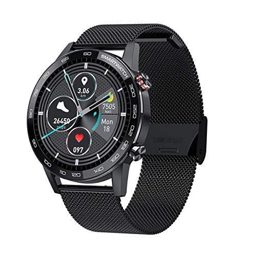 VBF Smart Watch, L16, ECG Hombre PPG Control De Música Bluetooth, Pulsera De La Ritmo Cardíaco De La Presión Arterial IP68 Reloj Inteligente,B
