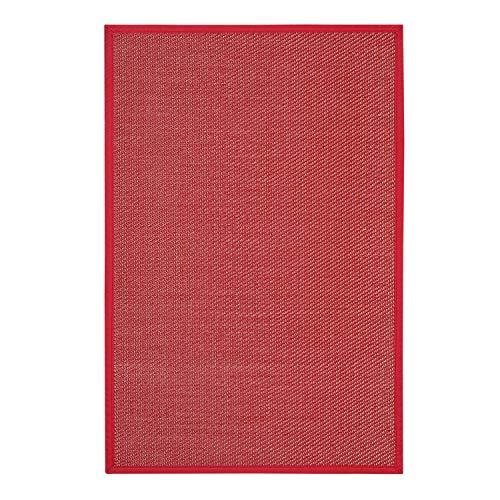STORESDECO Alfombra vinílica Deblon con Ribete – Alfombra de PVC Antideslizante y Resistente, Ideal para salón, Cocina, baño… ¡Disponible en Medidas Grandes y más Colores! (80cm x 150cm, Rojo)