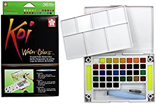 Sakura Koi Watercolor Field 36 Color Sketch Set Pocket Sketch Box - Xncw-36N